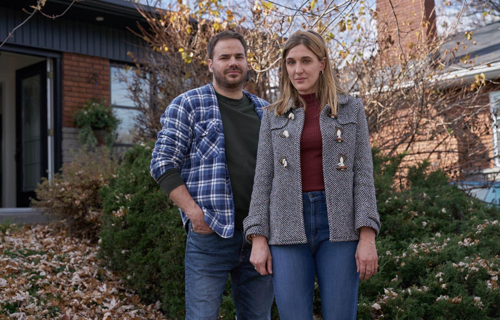 Sébastien Huberdeau et Mylène Mackay dans l'épisode «Seule» de la série d'anthologie «Patrick Sénécal présente»