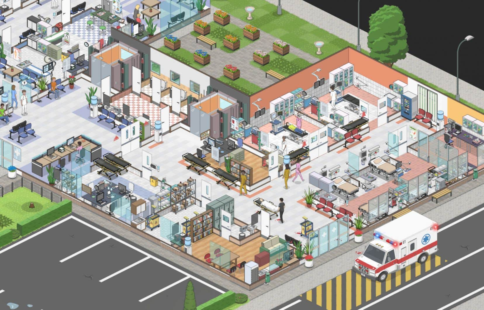 Le joueur est responsable d'un large éventail de départements, dans lesquels seront traitées des dizaines de maladies basées sur des affections du monde réel, suivant un processus de diagnostic détaillé.