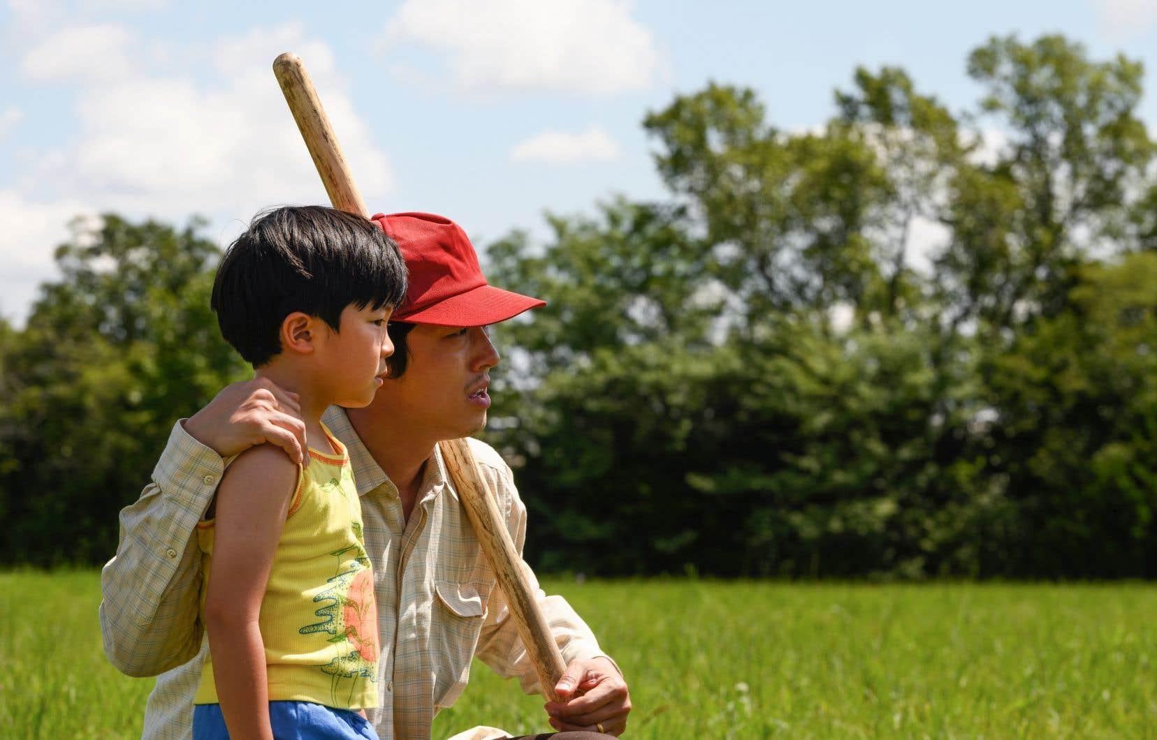 Les acteurs Alan S. Kim (David) et Steven Yeun (Jacob)