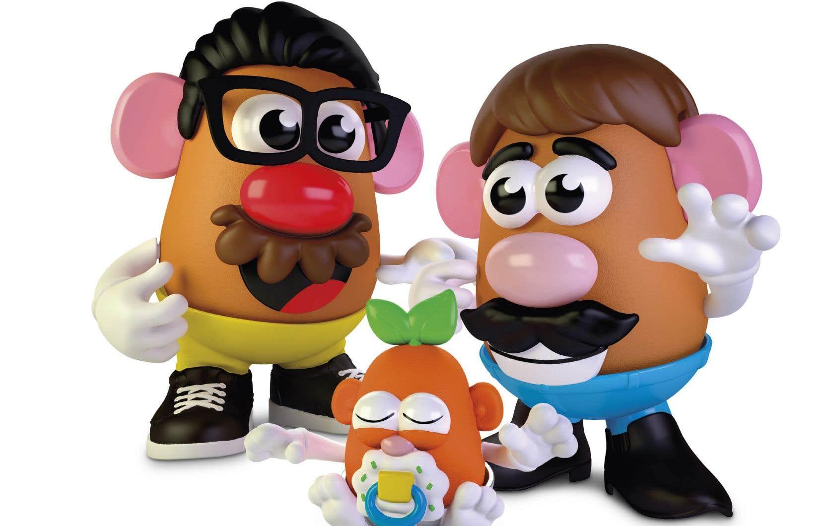 À partir d'une forme de patate en plastique, les enfants sont appelés à créer des personnages en leur ajoutant des attributs.