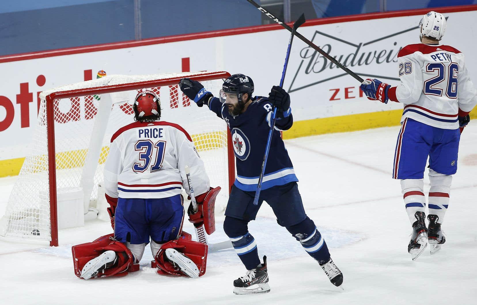 Dans la défaite de 6-3 face aux Jets de Winnipeg, jeudi, le gardien Carey Price a accordé cinq buts dans une même rencontre pour la quatrième fois de la campagne.