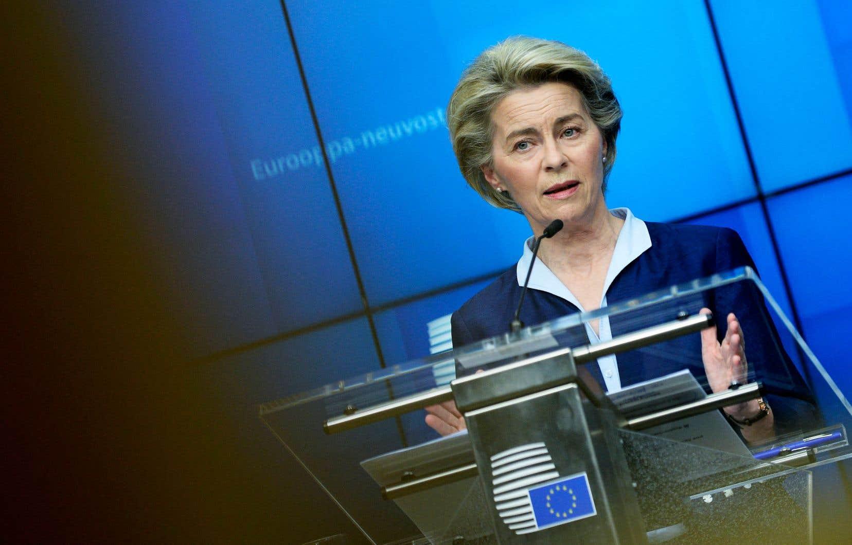 La présidente de la Commission, Ursula von der Leyen