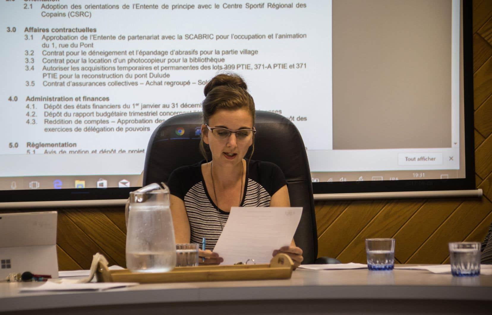En 2014, Maude Laberge est devenue la première mairesse de l'histoire de Sainte-Martine.