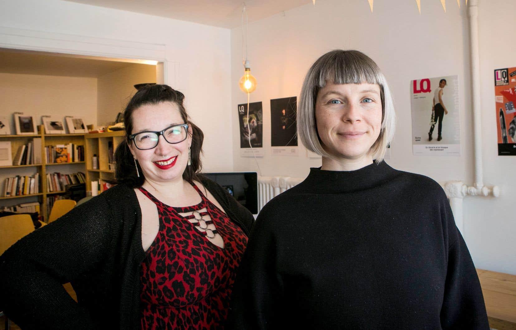Parmi les principaux constats dressés par Vanessa Bell (à droite) et Catherine Cormier-Larose, il y a celui d'un déplacement des luttes féministes du collectif vers l'intime et le quotidien.