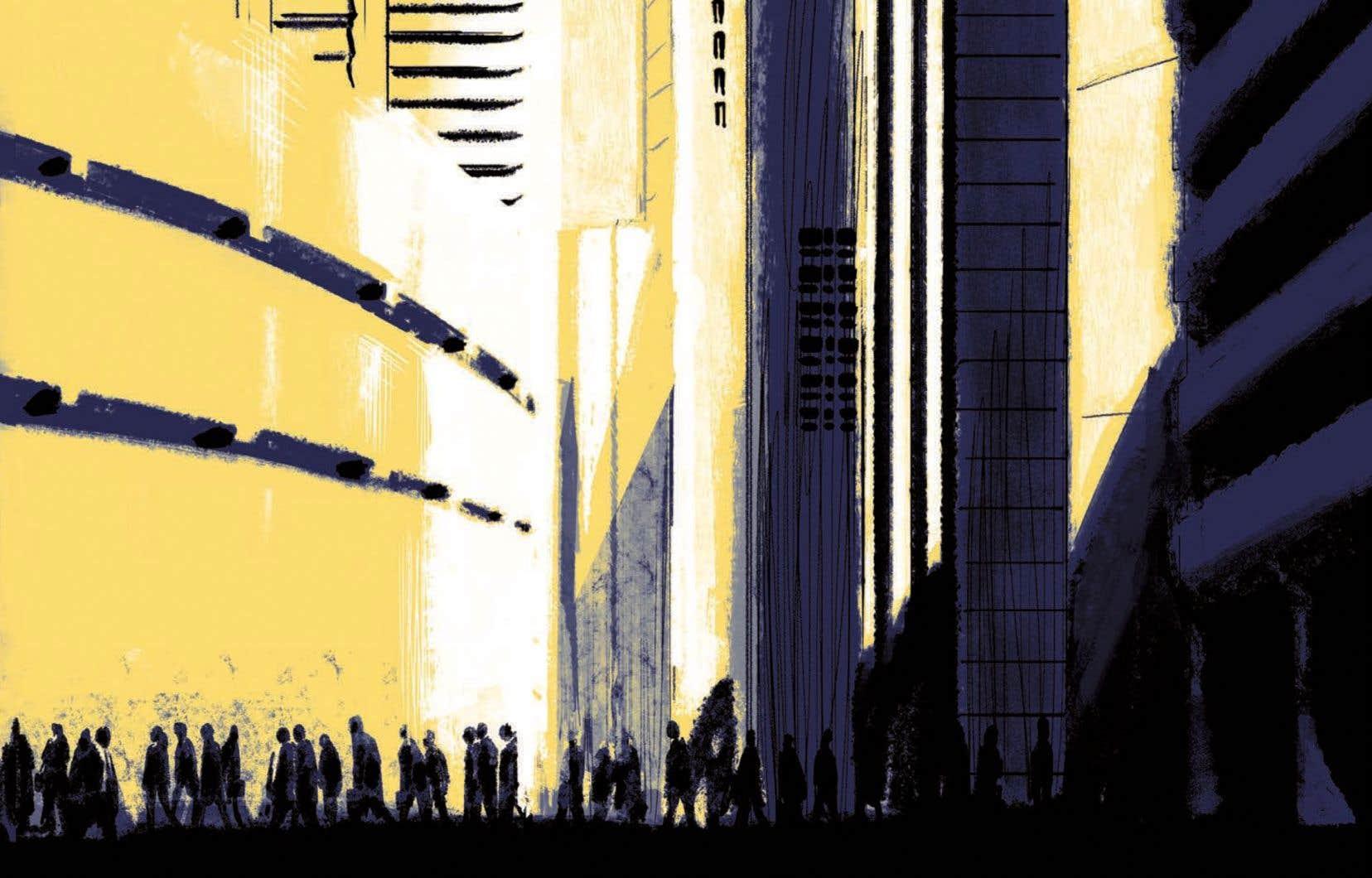 Planche de la bédé «1984» de Xavier Decoste