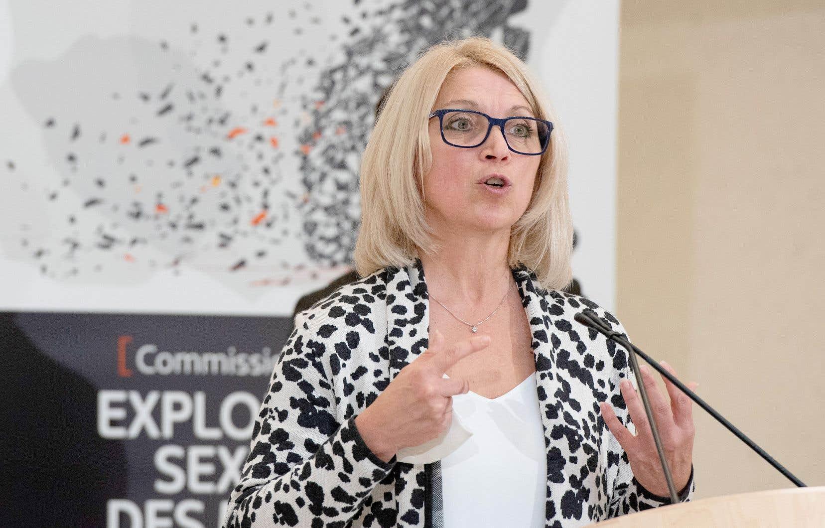 La députée des Plaines, Lucie Lecours, a été nommée ministre déléguée à l'Économie la semaine dernière.