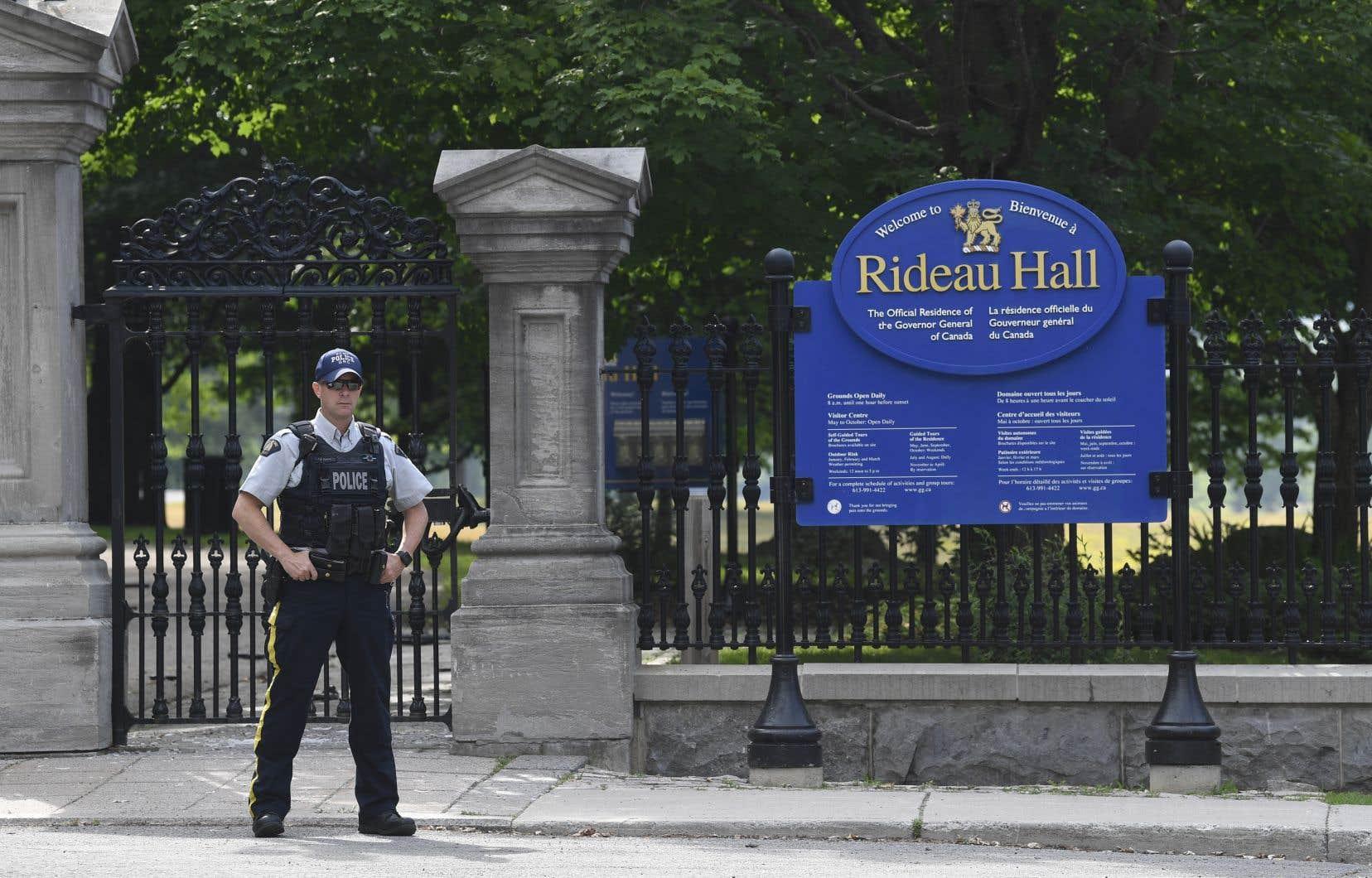 Corey Hurren a conduit une camionnette sur le terrain de la résidence officielle du gouverneur général le 2juillet dernier et a percuté la barrière,avant de se diriger à pied vers Rideau Cottage.