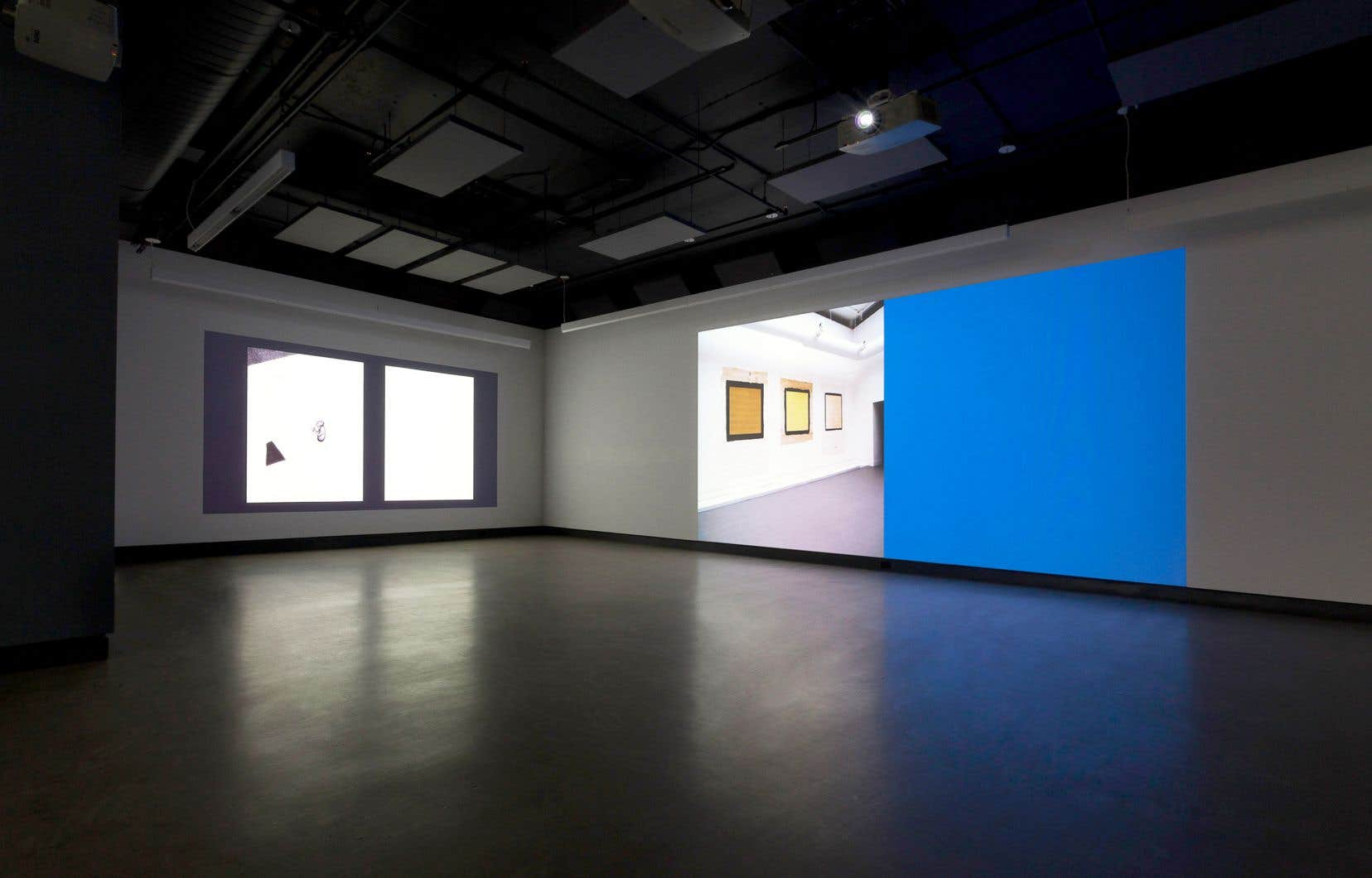Vue d'une installation de l'exposition «Moving Through Time and Space», de l'artiste David Tomas décédé le 3 avril 2019.