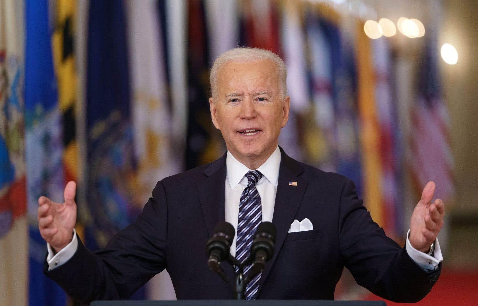 Le président Joe Biden s'est adressé à la nation jeudi à l'occasion du premier anniversaire de la pandémie.