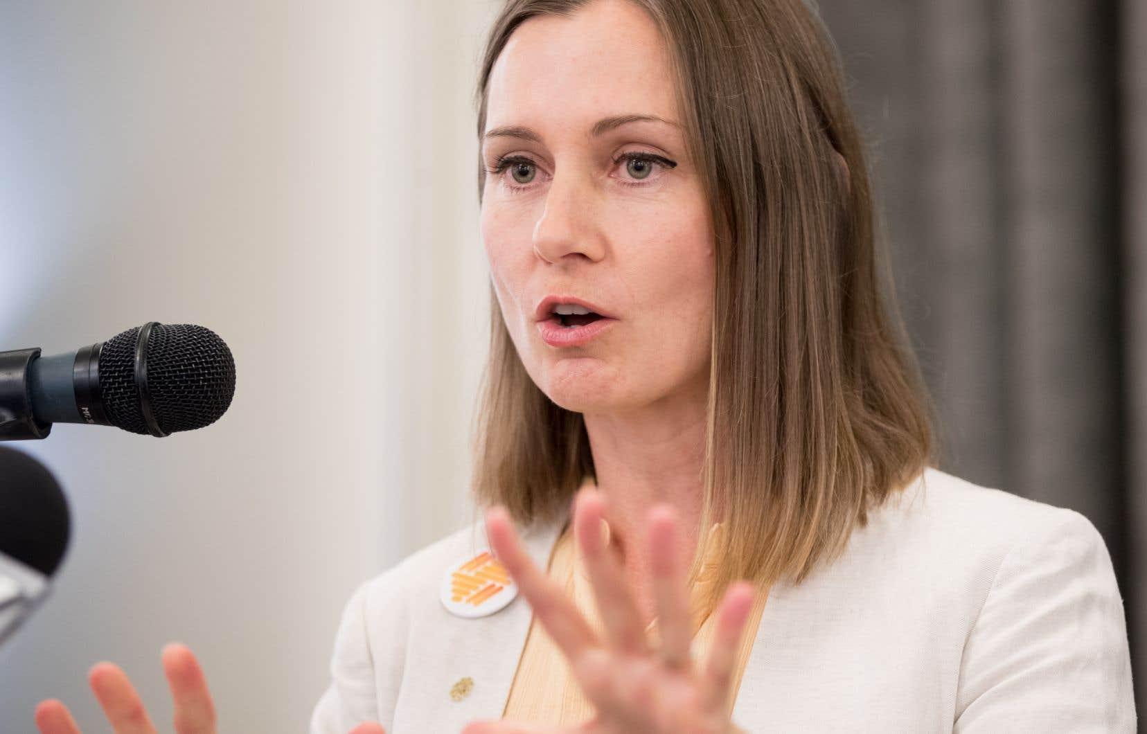 L'ancienne conseillère et cheffe par intérim de Vrai changement Montréal, Justine McIntyre