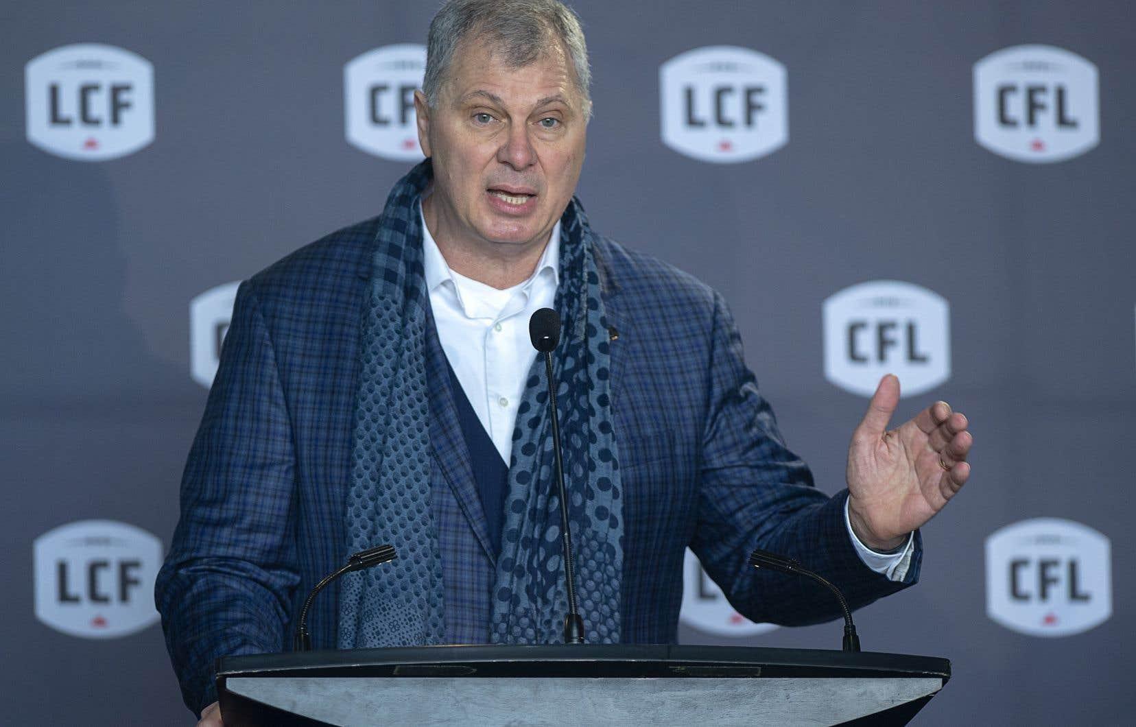 Le commissaire de la Ligue canadienne de football, Randy Ambrosie