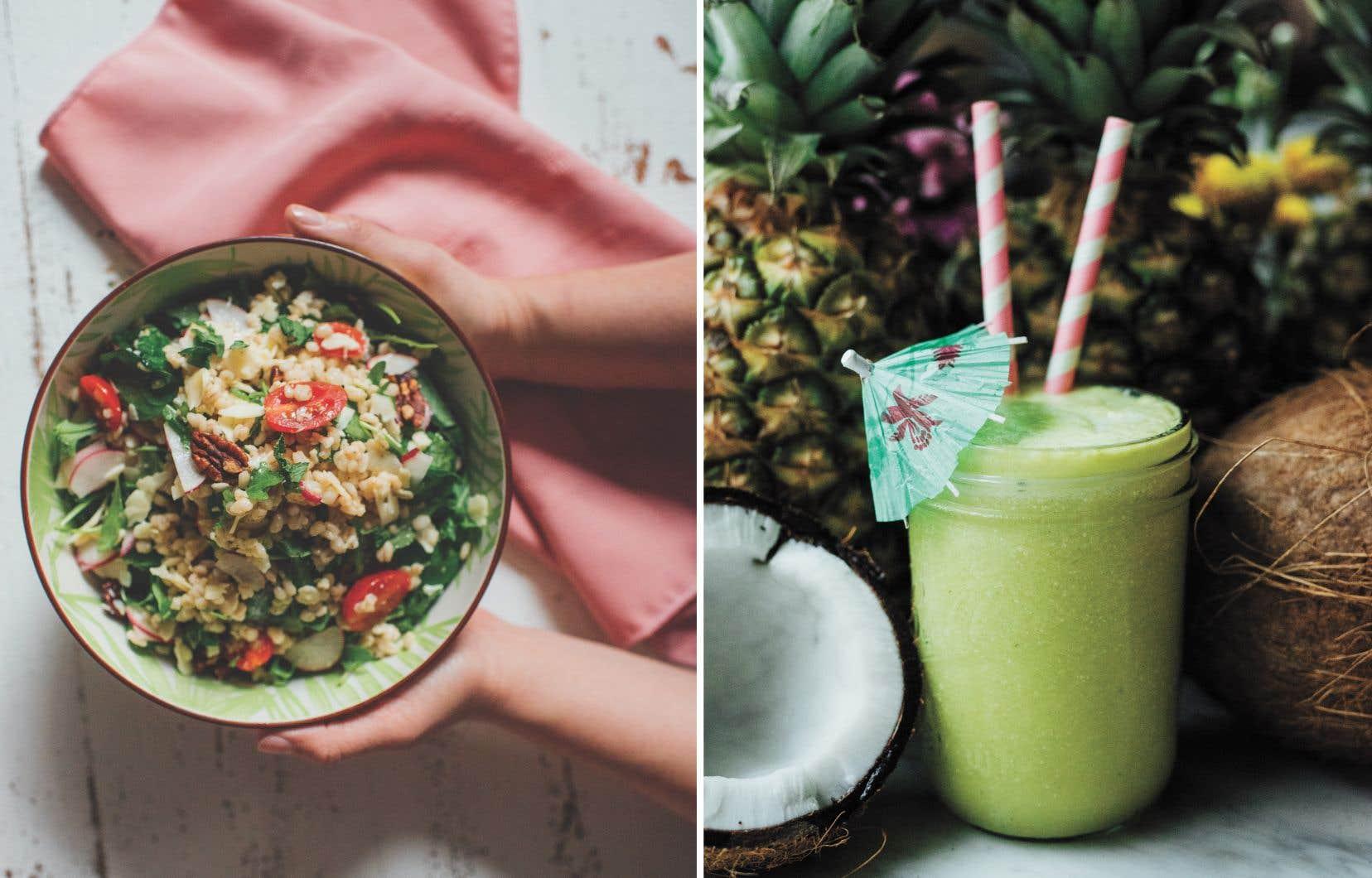 Une salade de farro printanière et un shakti