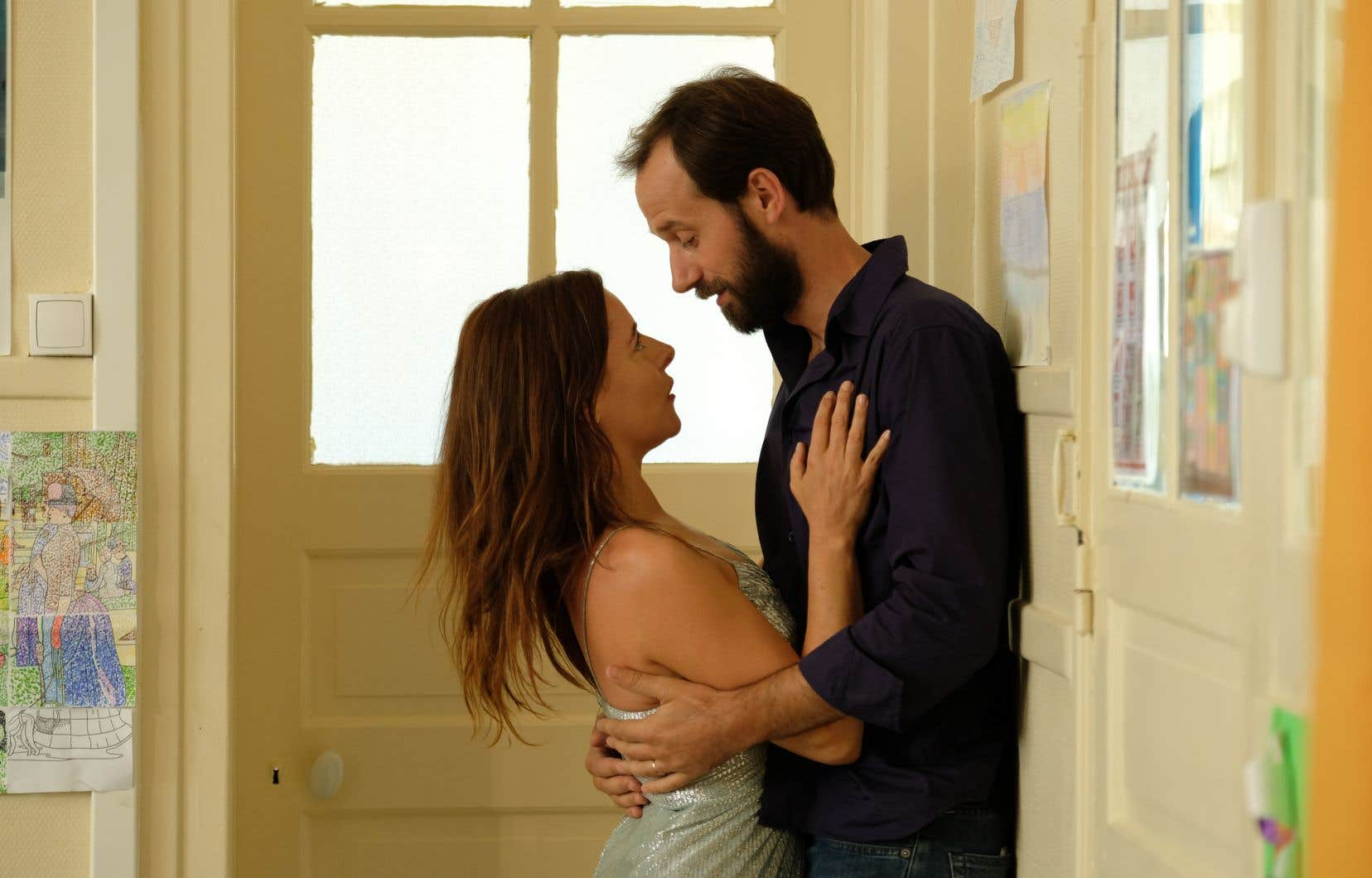 Les acteurs Laure Calamy (Antoinette) et Benjamin Lavernhe (Vladimir)