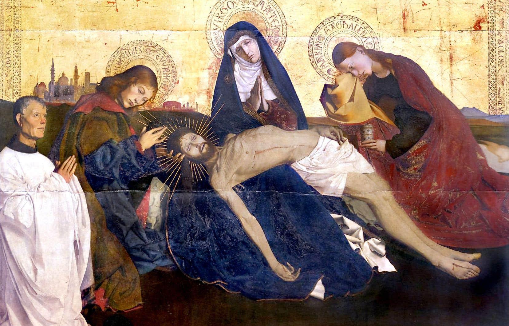 «La Pietà» de Villeneuve-lès-Avignon, attribuée à Enguerrand Quarton, entre 1455 et 1460