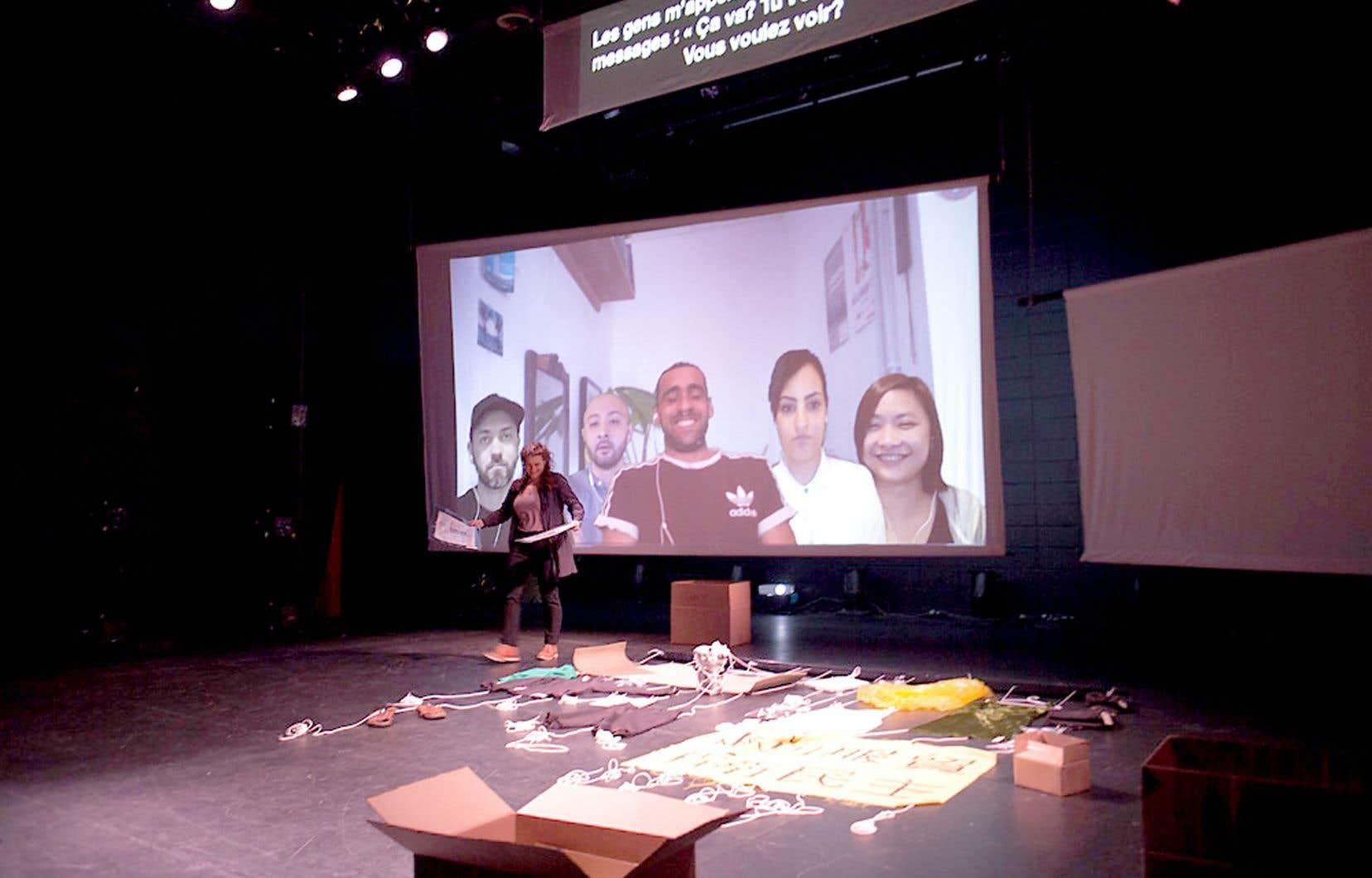 La technologie a souvent offert aux mouvements sociaux de puissantes plateformes de prise de parole. Elle rend maintenant possible la communion en direct de cinq artistes dans cinq villes différentes dans «Intersections», de Mireille Camier et Ricard Soler Mallol.