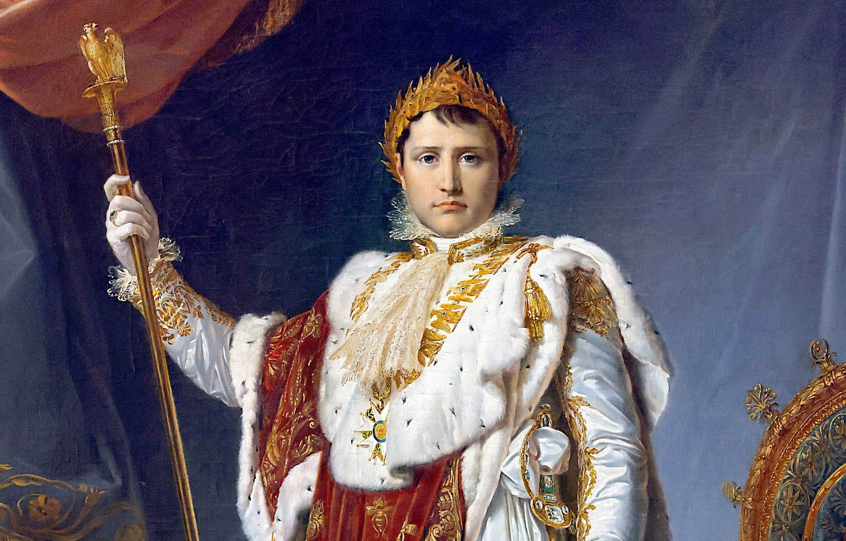 Un portrait de l'empereur français Napoléon Ier, peint en 1805 par François Gérard et qui se trouve aujourd'hui au château de Fontainebleau, au sud de Paris.