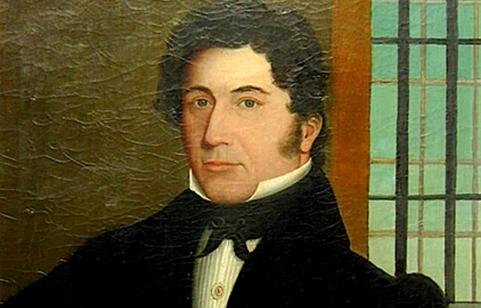 Portrait de Ludger Duvernay par Jean-Baptiste Roy-Audy (1778-1848), huile sur toile, 1832, Société Saint-Jean-Baptiste, maison Ludger-Duvernay