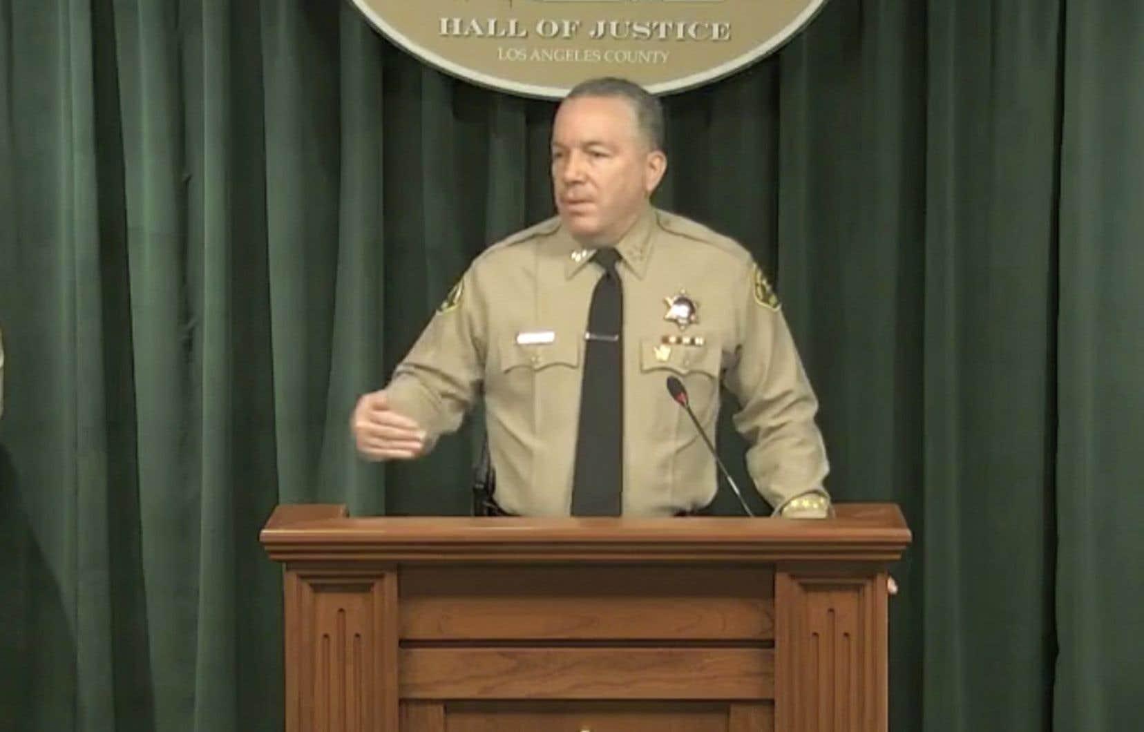 Le shérif du comté de Los Angeles, Alex Villanueva