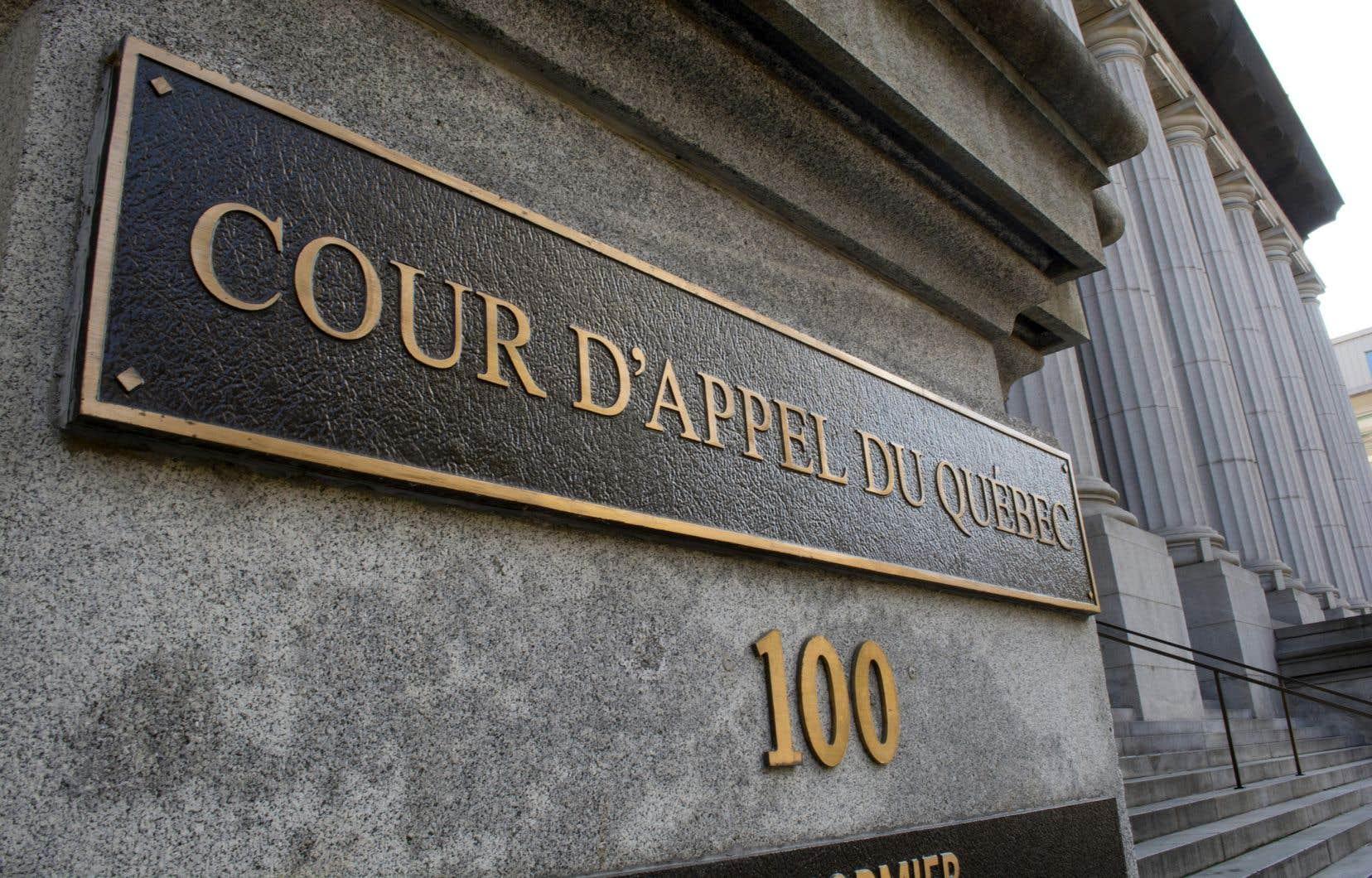 Des erreurs de principe sont soulevées par la Cour d'appel dans la décision rendue en mai 2019 par la juge Joëlle Roy de la Cour du Québec.