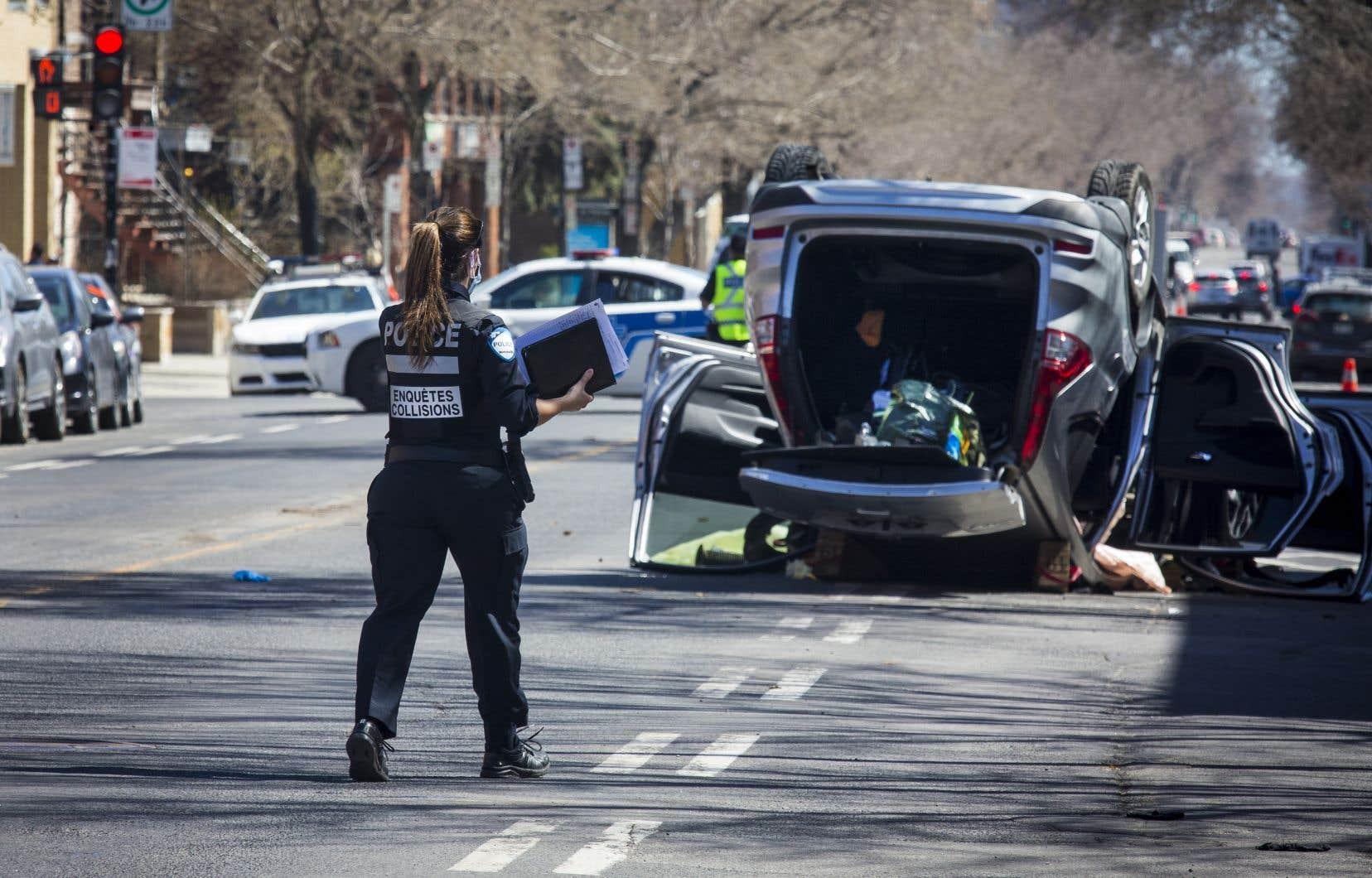 Il s'agit du premier accident routier impliquant la mort d'un cycliste à Montréal en 2021.