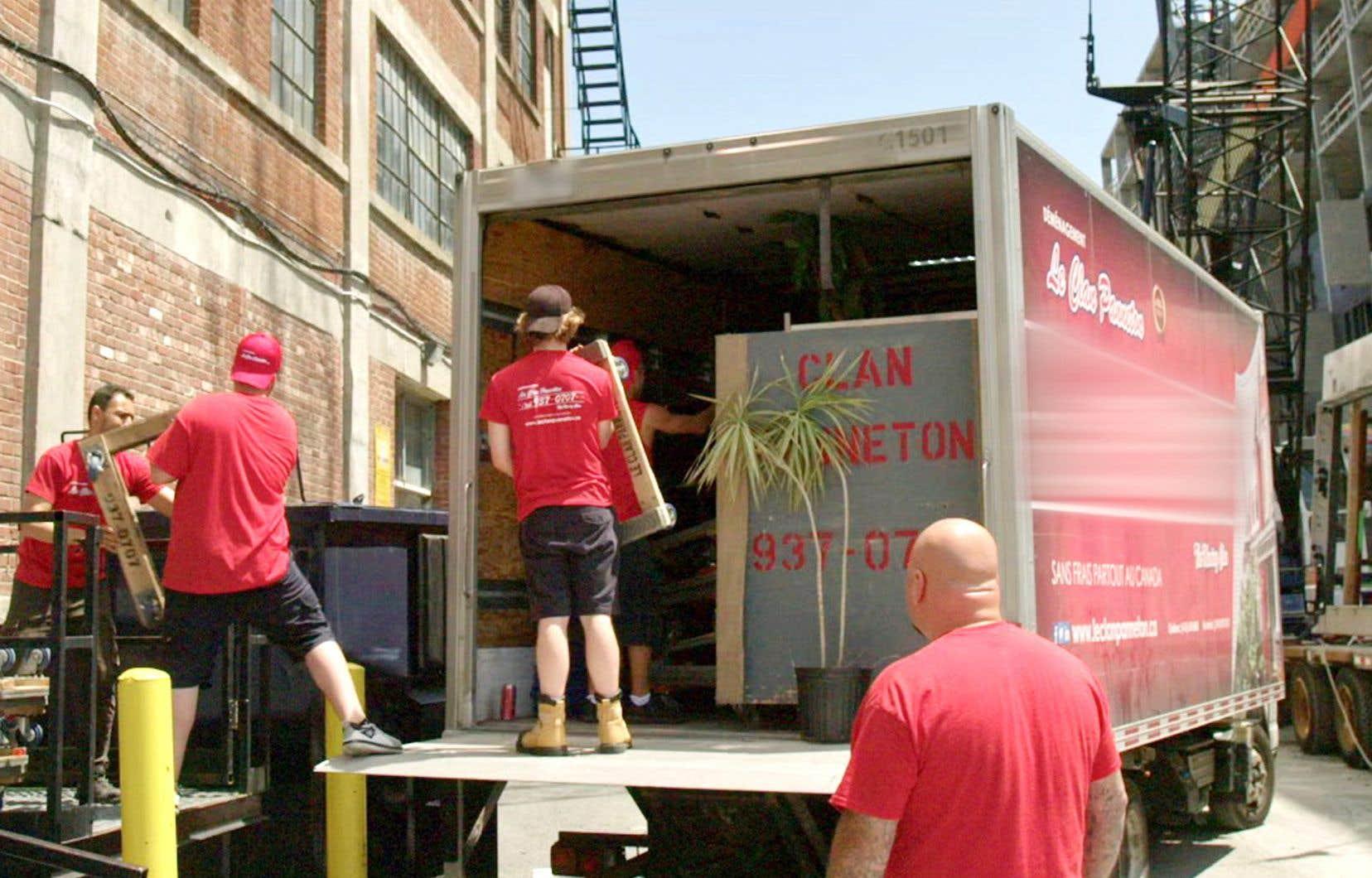 Une scène du docuréalité «Je suis déménageur», à Canal D