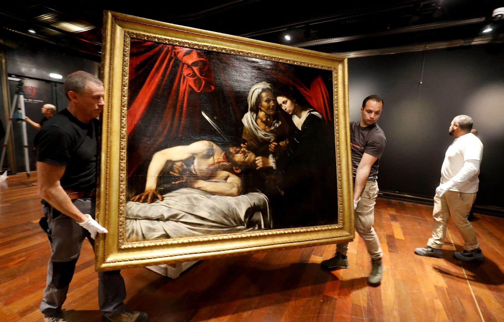 La toile représentant «Judith décapitant Holopherne» dormait depuis des lustres dans le grenier d'une maison près de Toulouse, dans le sud de la France.