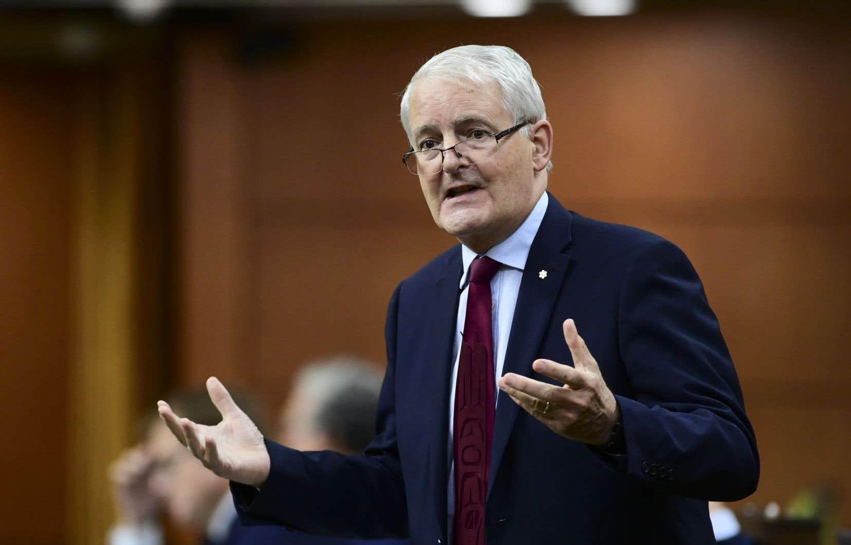 Leministre des Affaires étrangères Marc Garneau