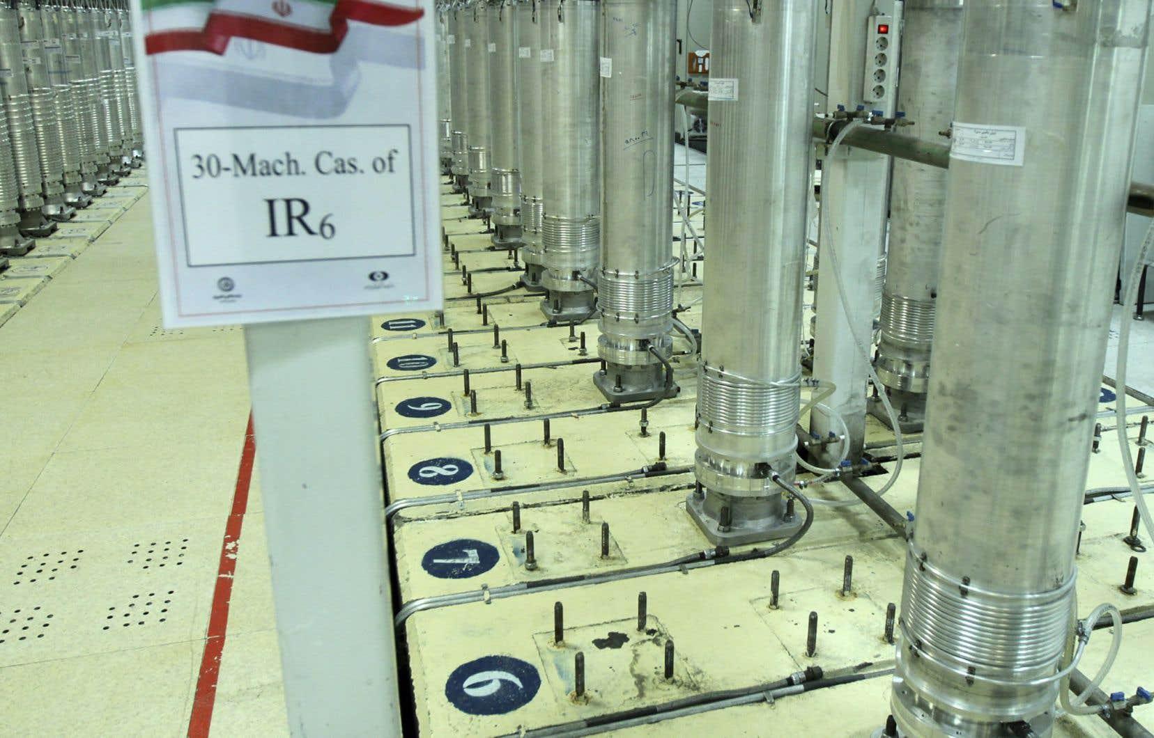 L'Iran a accusé Israël d'avoir saboté, dimanche, son usine d'enrichissement d'uranium de Natanz. Sur la photo, des centrifugeuses utilisées pour enrichir l'uranium.