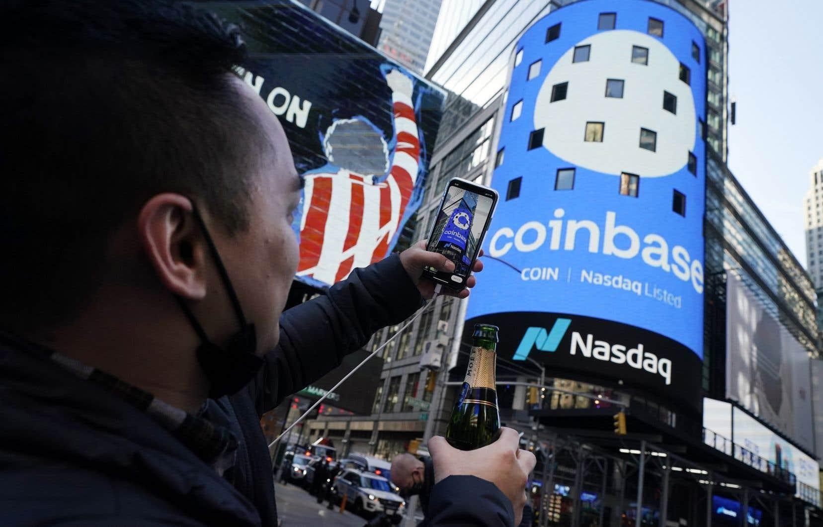La capitalisation de Coinbase s'approche de 100milliards.