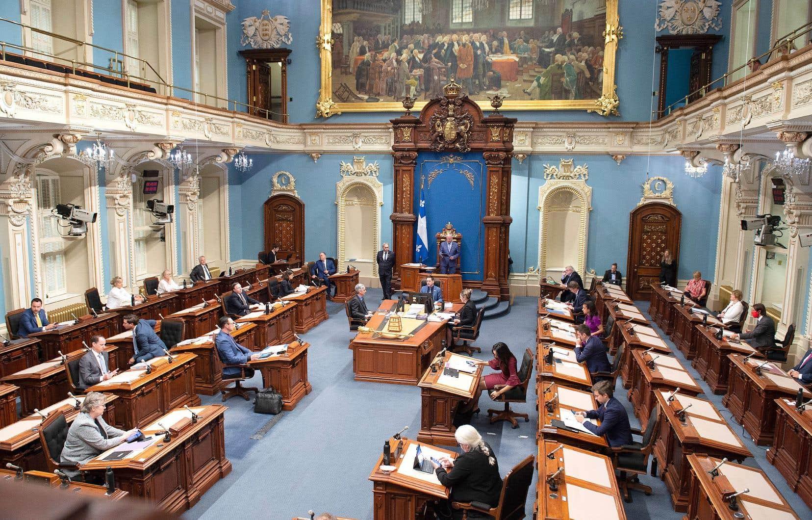 Déposé à l'automne 2019, le projet de loi 39 visant à établir un nouveau mode de scrutin prévoit des mesures pour favoriser la parité à l'Assemblée nationale.