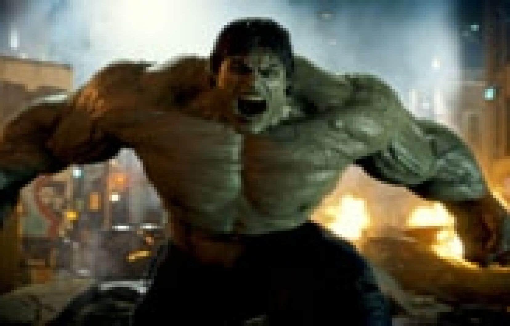 Bruce Banner, alias Hulk, en pleine colère