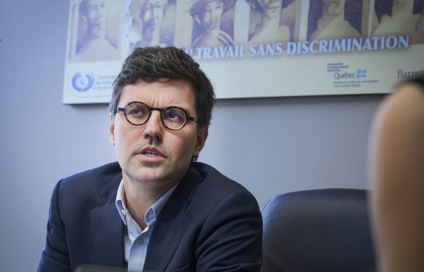 Le président de la Commission des droits de la personne et des droits de la jeunesse, Philippe-André Tessier