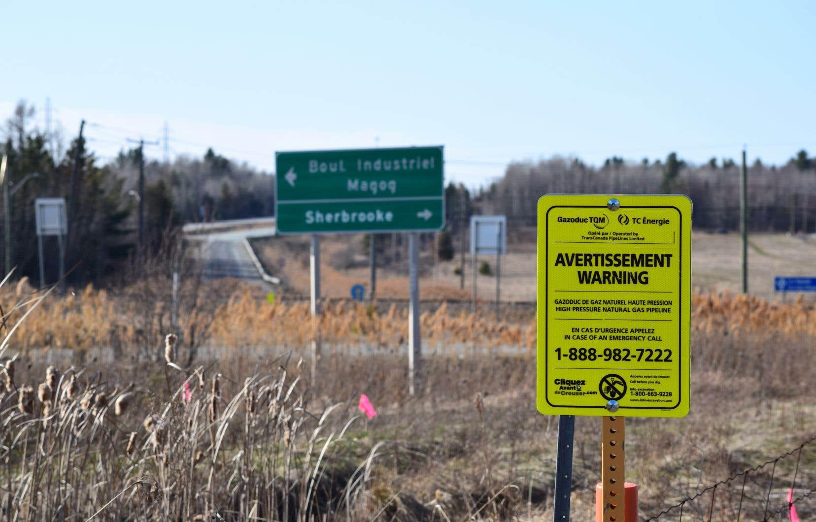 Le tracé du gazoduc qui transporterait du gaz pour le projet de GNL en Nouvelle-Écosse passe notamment par l'Estrie.