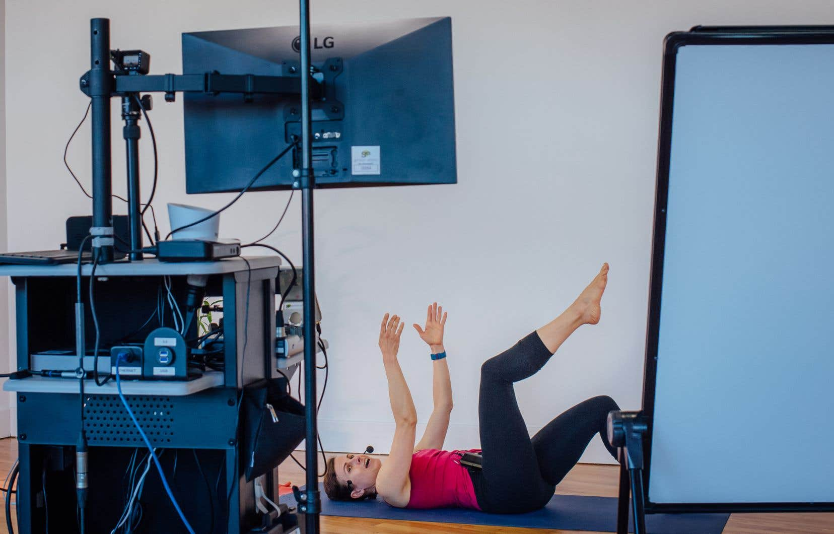 Le statut du Studio Bizz lui a permis de transformer la pandémie en opportunité d'affaires. Ici, le cours de Pilates avec Olena Harasymowycz.