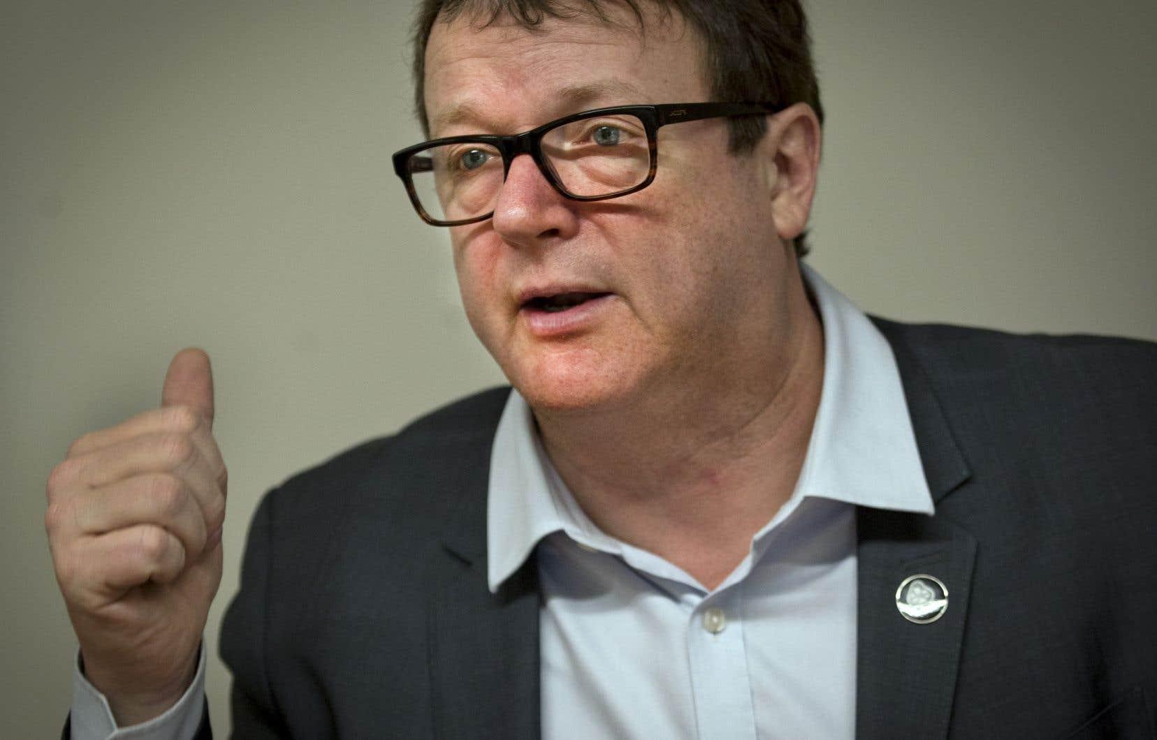 Jacques Létourneau dirige la Confédération des syndicats nationaux (CSN) depuis 2012.