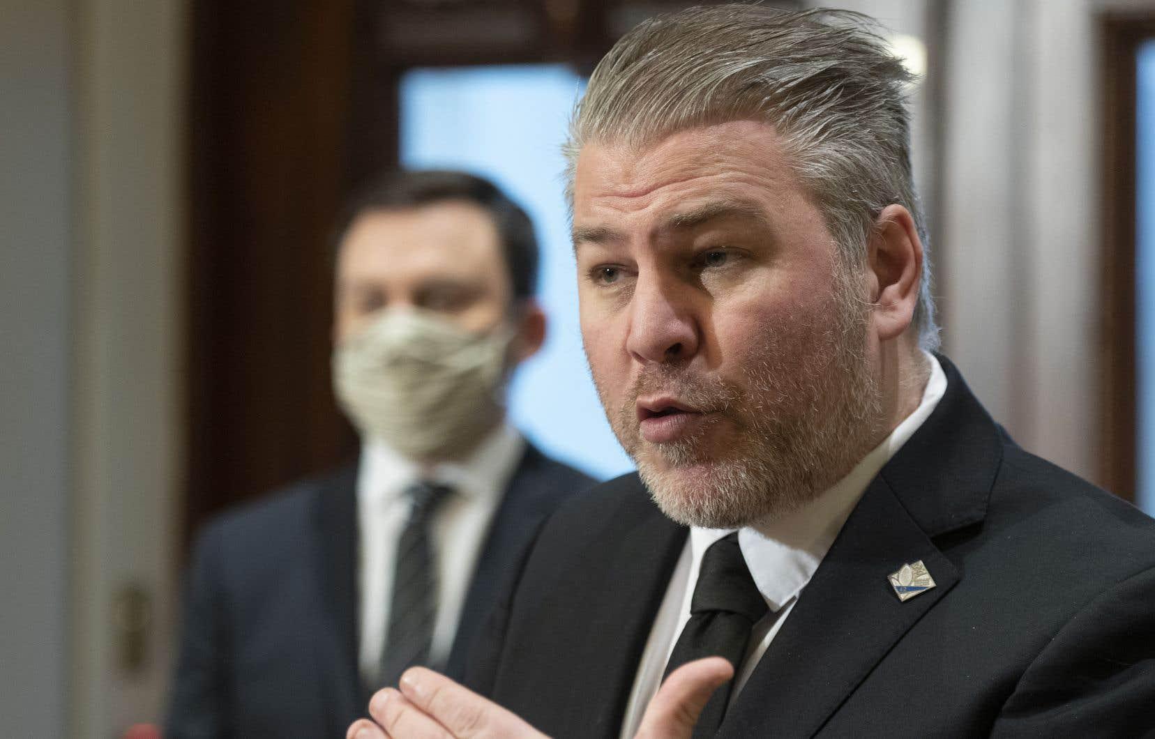 Le chef parlementaire du Parti québécois, Pascal Bérubé
