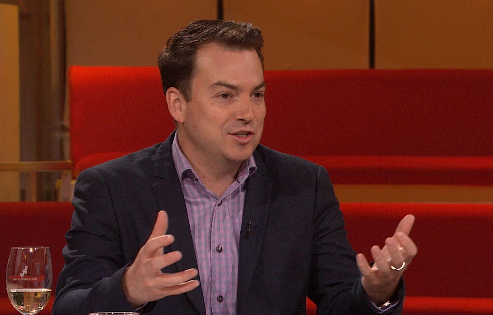 Alec Castonguay à l'émission Tout le monde en parle du 10 mai 2020.