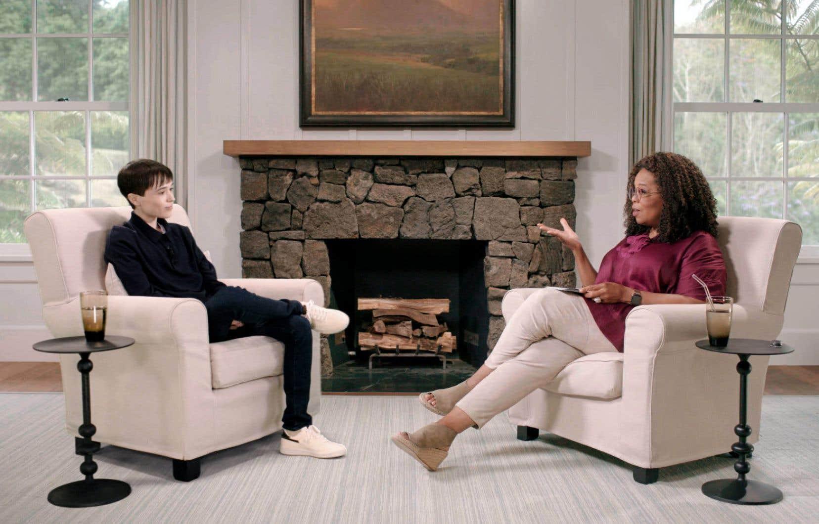 L'acteur né à Halifax s'est entretenu en tête-à-tête avec l'animatrice Oprah Winfrey.