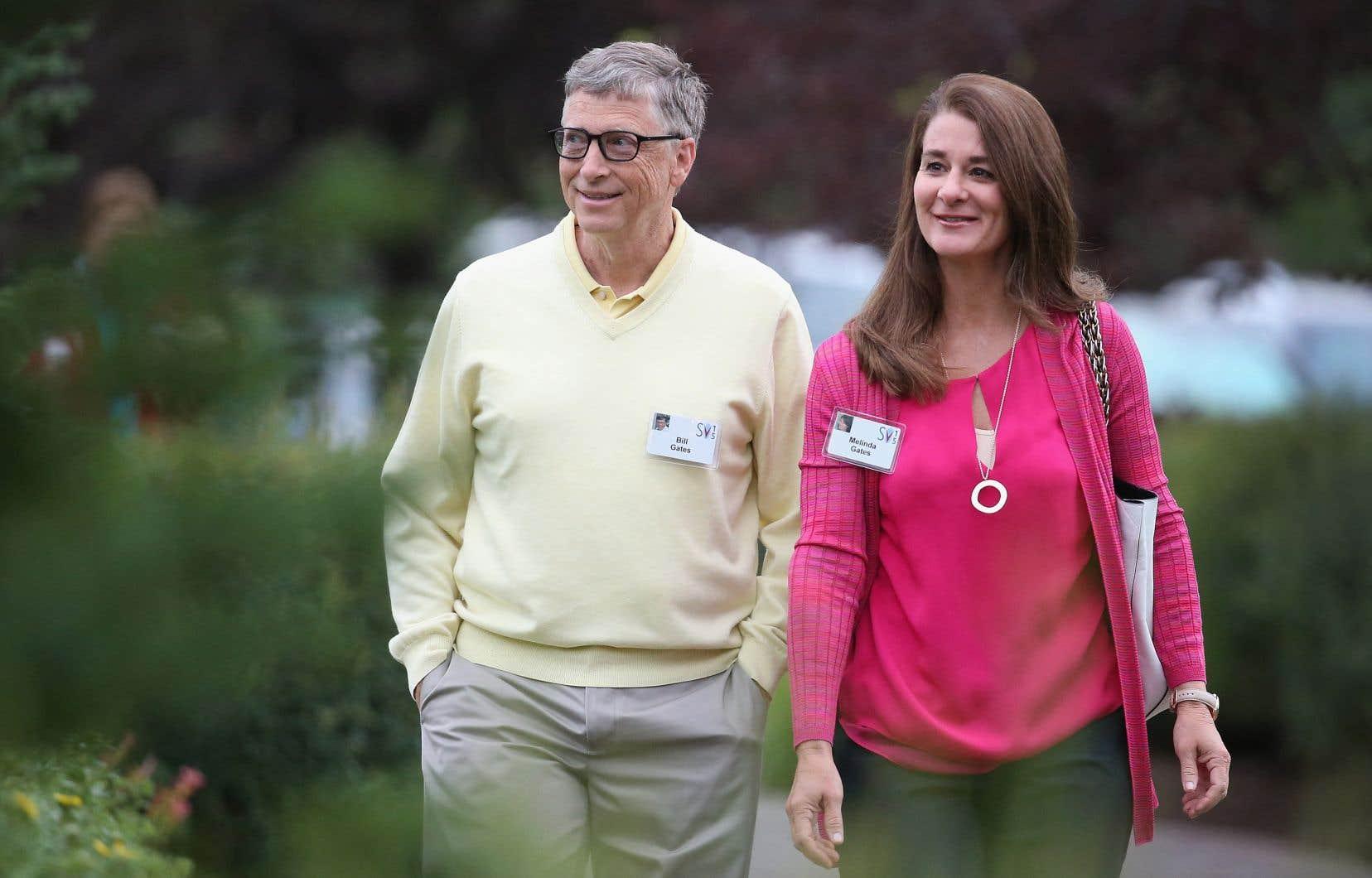 Bill et Melinda Gates, en 2015