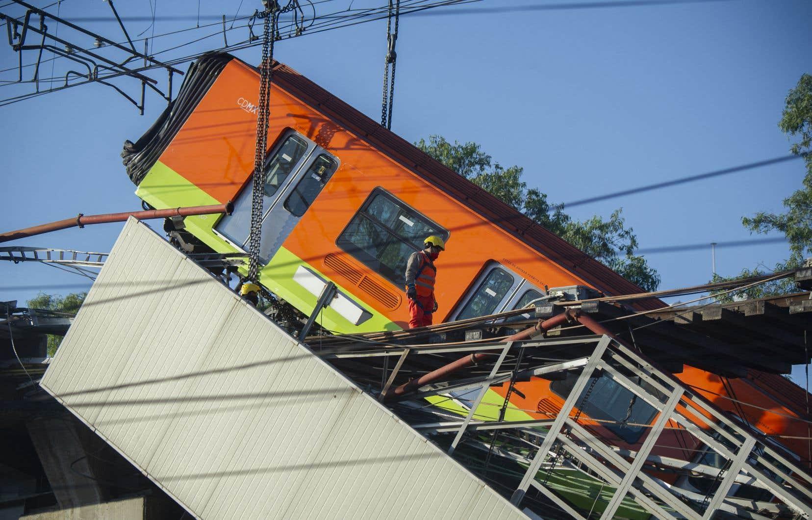 La ligne 12 du métro de Mexico, où s'est produit l'accident, lundi, présentait déjà des problèmes d'infrastructure et de fonctionnement.