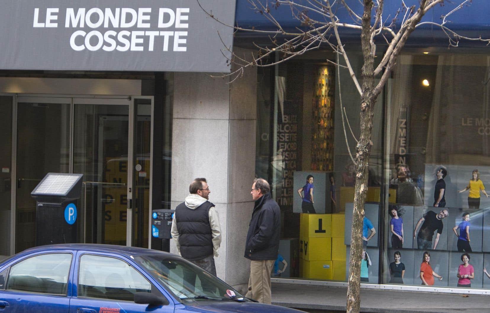 Une agence du groupe Cossette en 2009, à Montréal. Après avoir changé de propriétaire à deux reprises, l'agence de publicité et de services marketing voit son actionnariat redevenir en partie québécois.