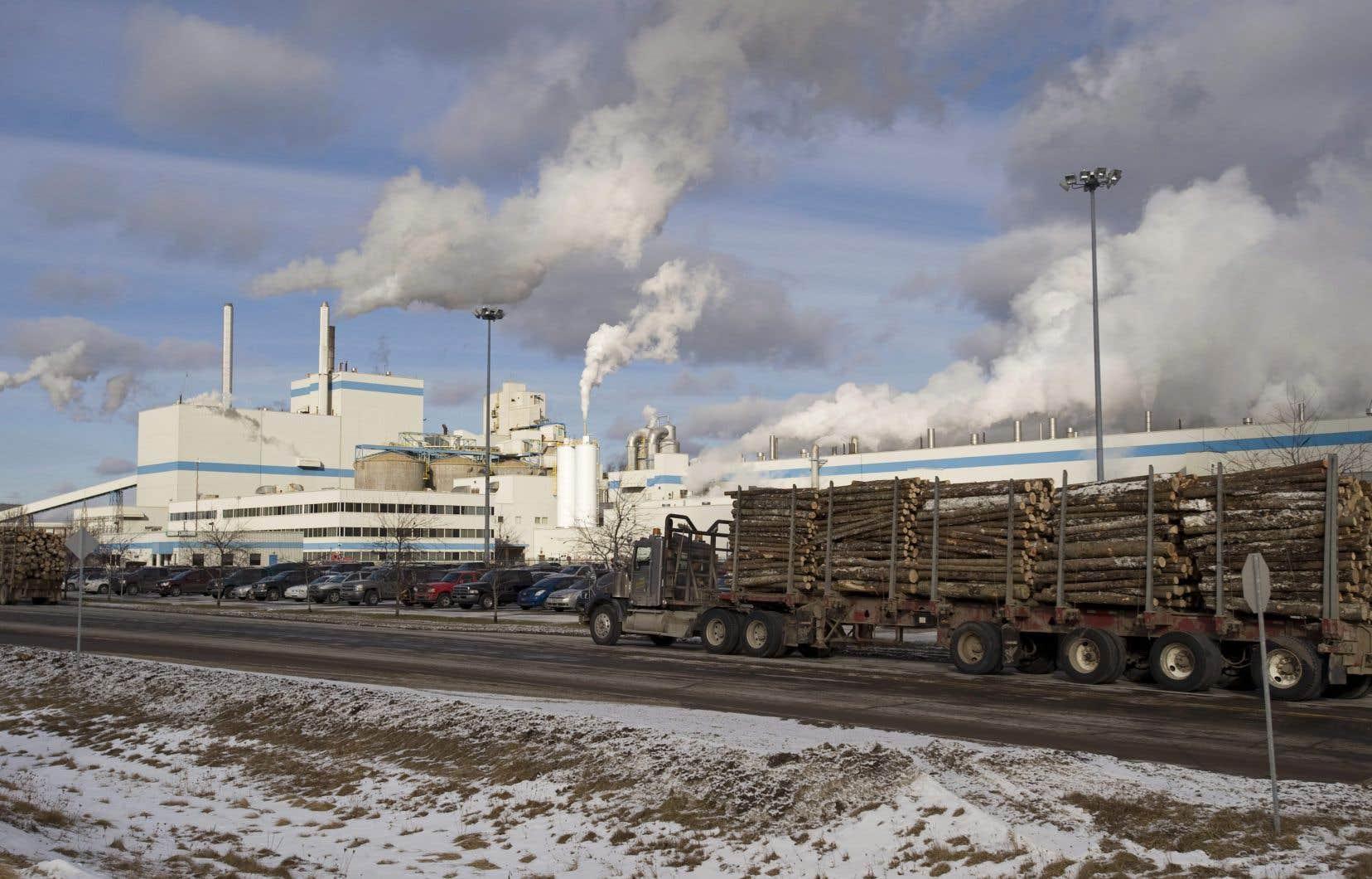 L'usine Domtar de Windsor, au Québec.