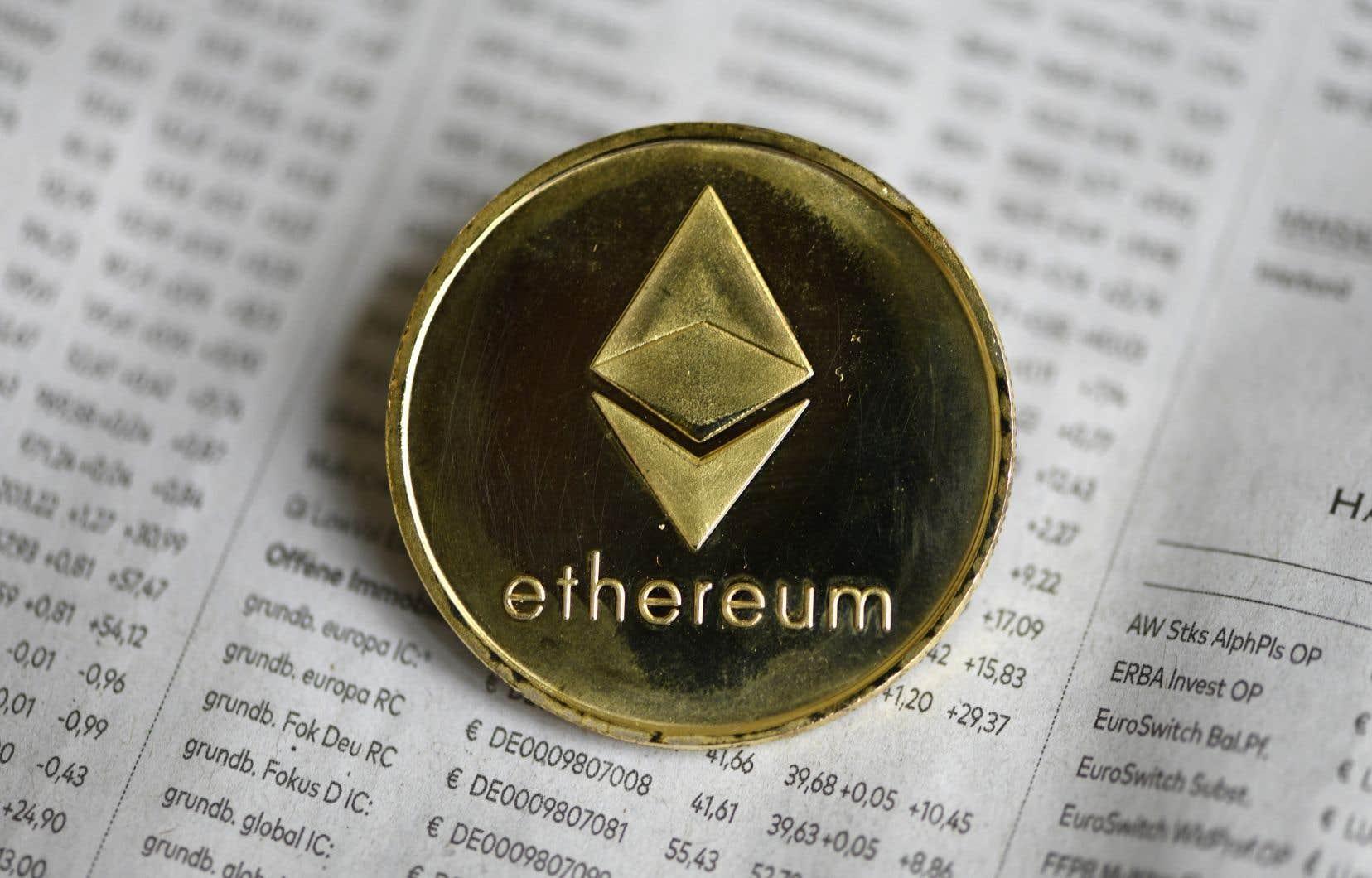Depuis le début de l'année, l'ether a gagné plus de 450%, comparativement à une hausse d'environ 100% pour le bitcoin sur la même période.