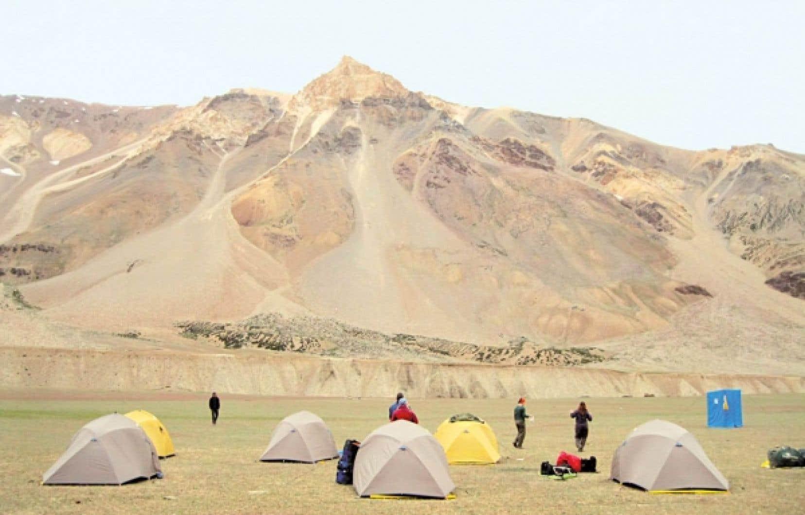 Camping à Sarchu, dans l'Himalaya<br />