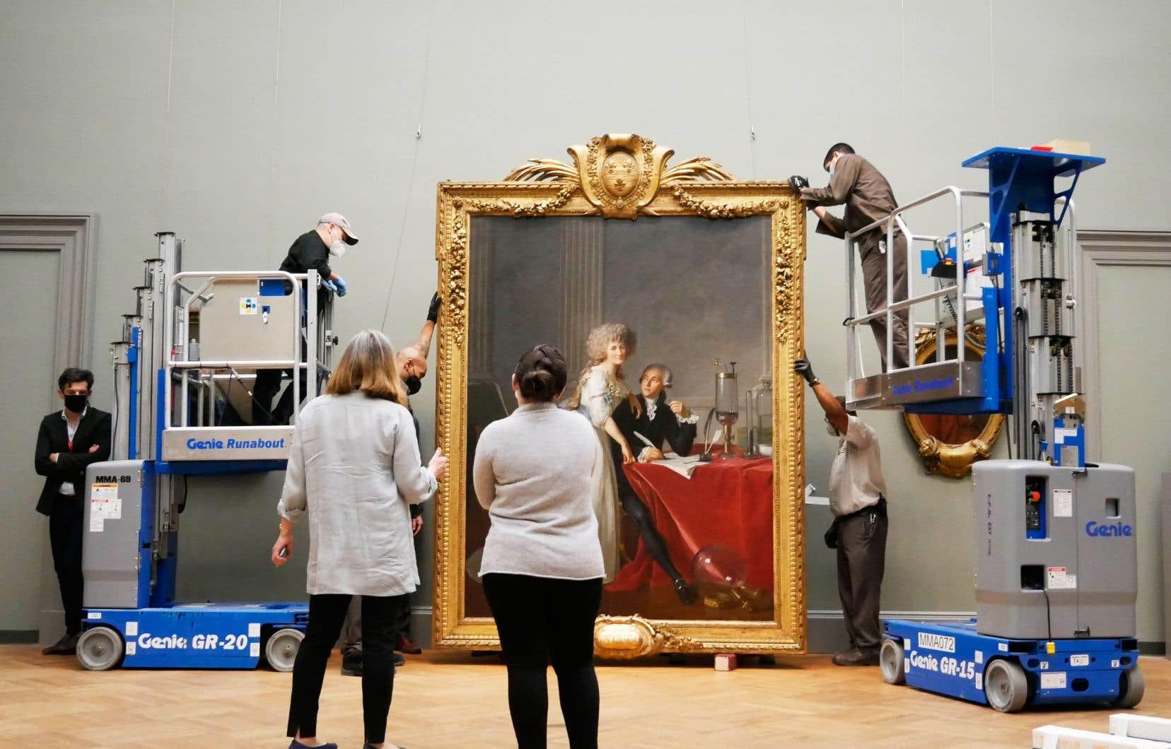 Une scène du documentaire «Inside the Met». Sur la photo: portrait d'Antoine Laurent Lavoisier et de son épouse Marie-Anne peint par Jacques-Louis David.