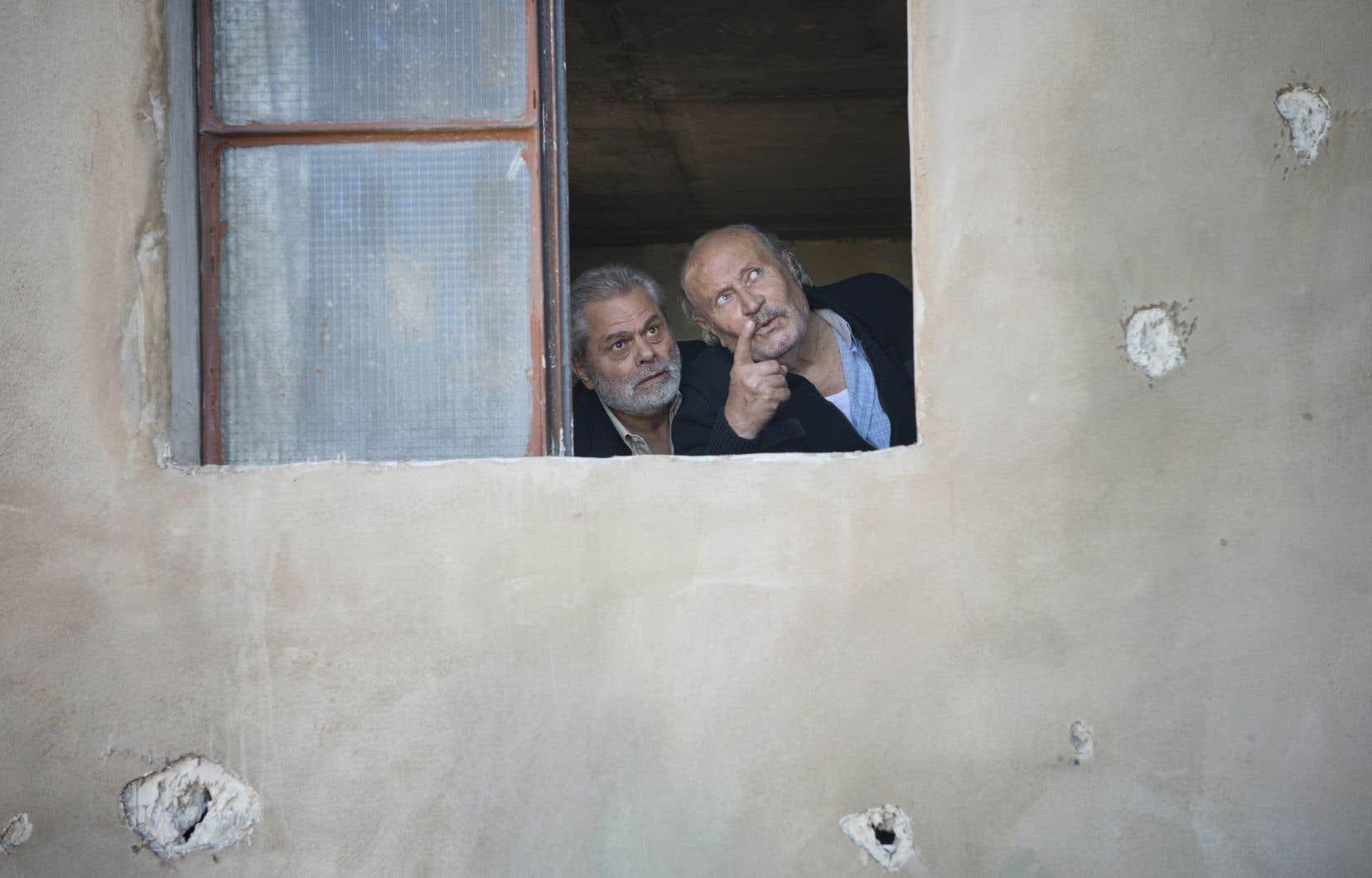 Les acteurs Boutros Rouhana et Adel Chahine