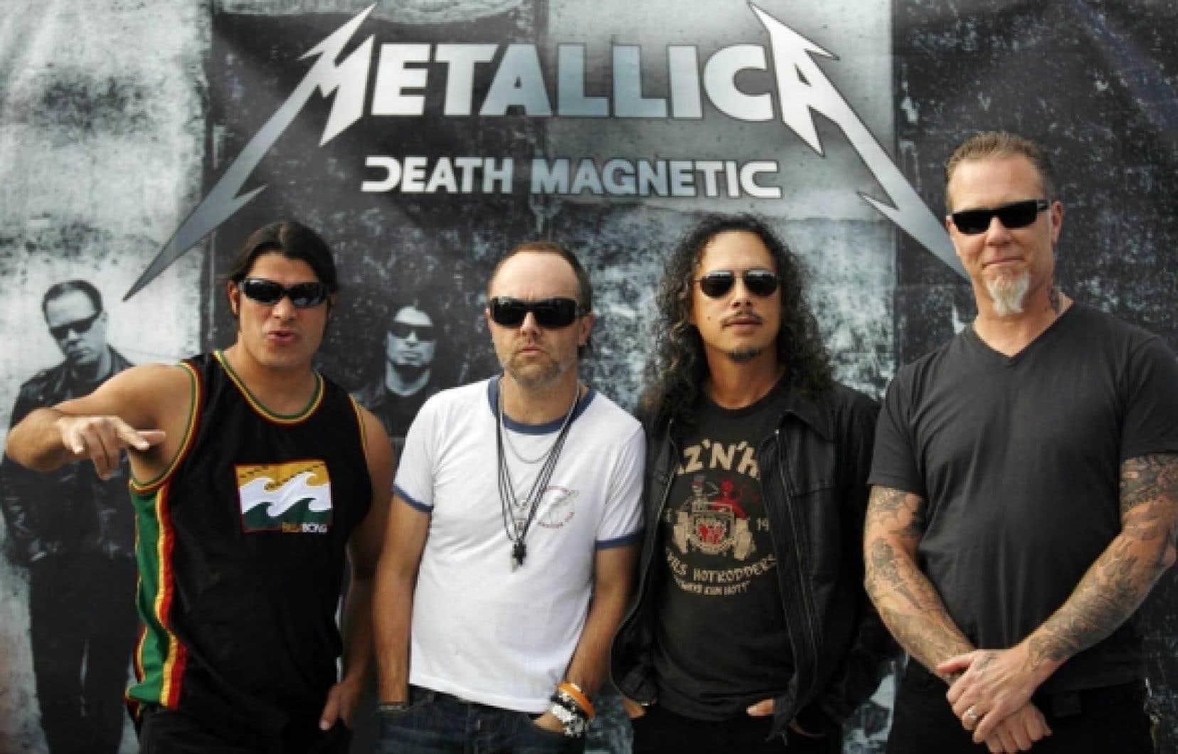 Le catalogue de Warner comprend notamment le groupe Metallica.
