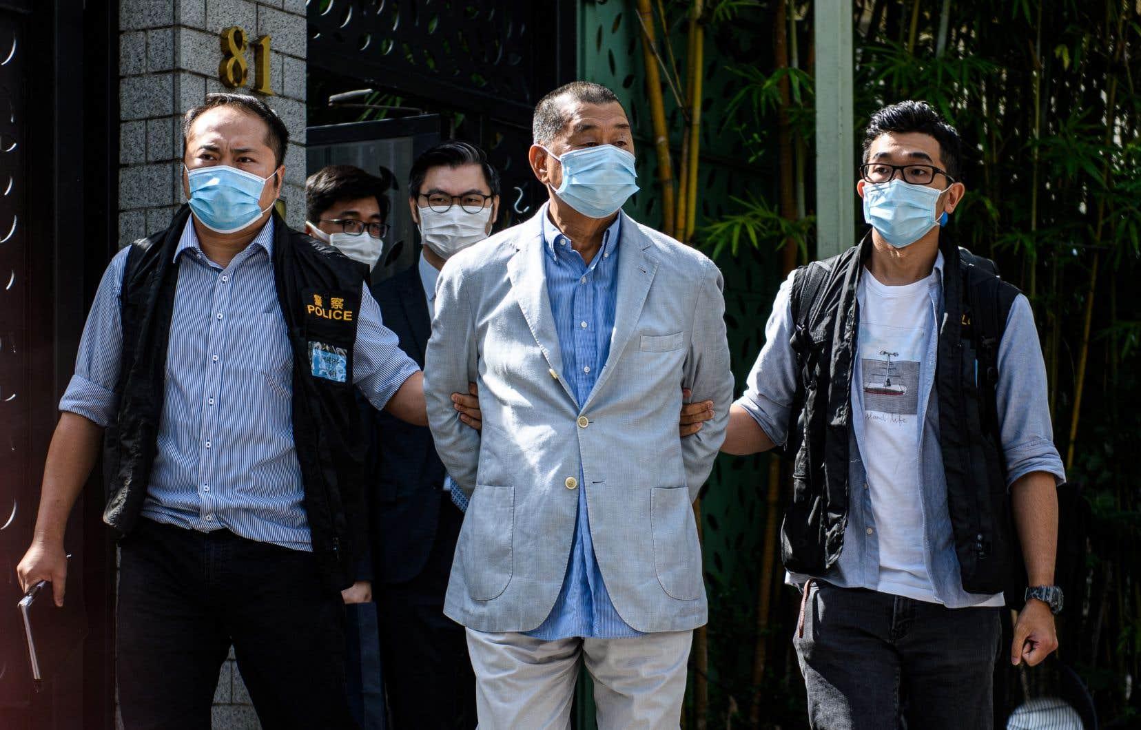 Jimmy Lai a été condamné à la prison en avril dernier pour avoir organisé des manifestations prodémocratie.