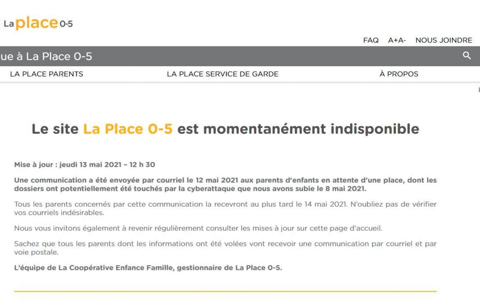 Cette directive survient en réponse à l'importante fuite de données qui a affecté la plateforme Place 0-5, qui sert de guichet unique pour obtenir une place dans un service de garde au Québec.