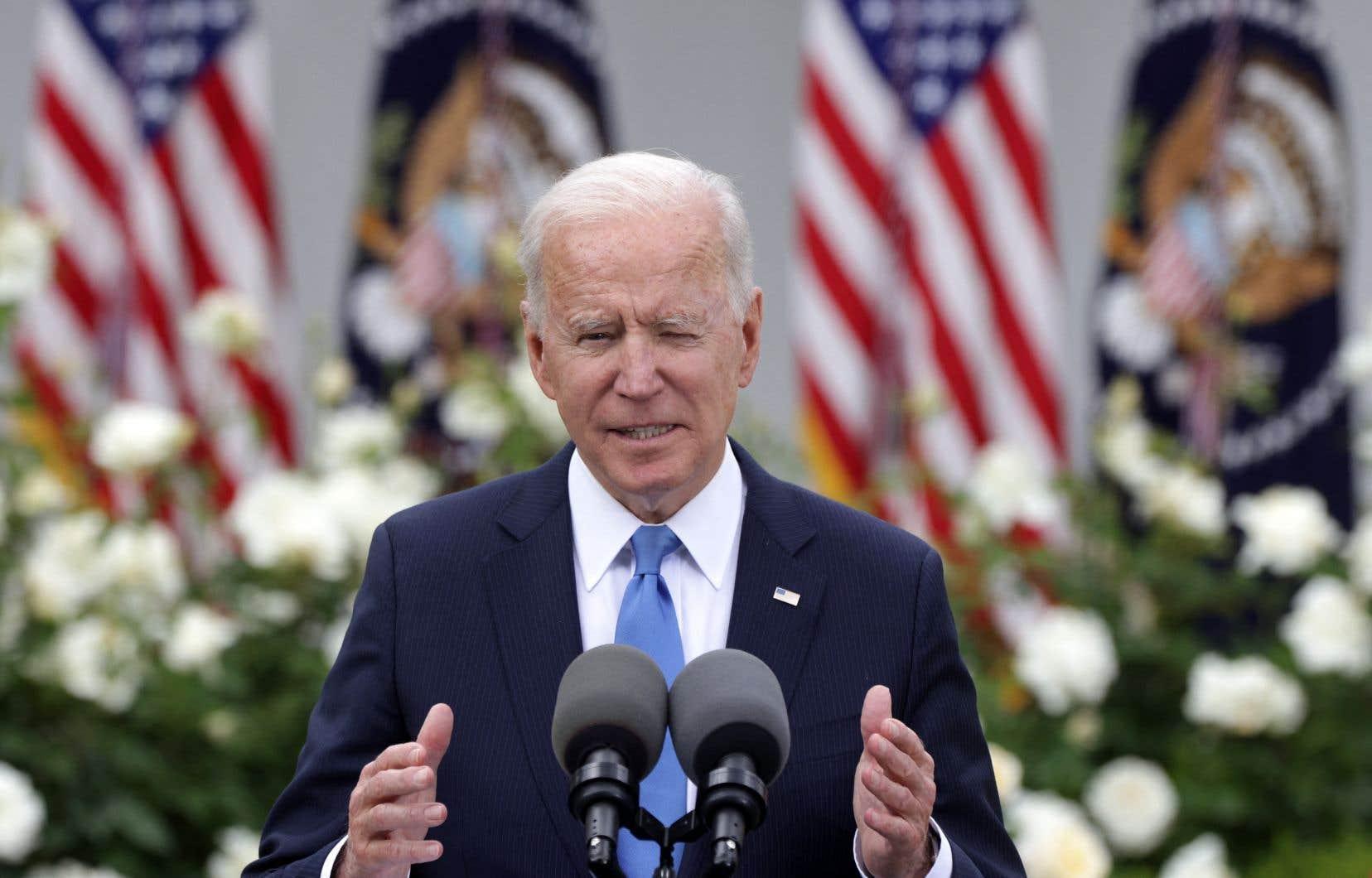 Joe Biden a aussi réaffirmé son soutien au «droit d'Israël de se défendre contre les attaques à la roquette du Hamas».